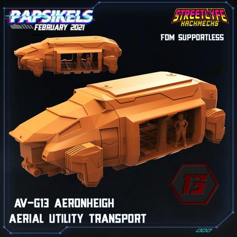 AV-G13 Aeronheigh Transport by Papsikels - PRINT TO ORDER