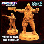 Male Solo Mercenary by Papsikels Miniatures