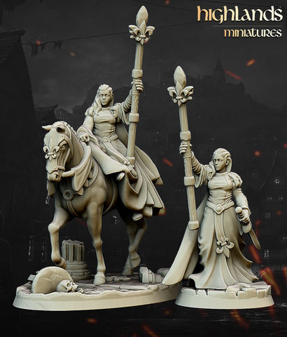 Damsel of the Lady by Highlands Miniatures - Mecha.Net Studios