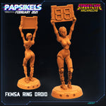 Sexy Ring Droids by Papsikels Miniatures