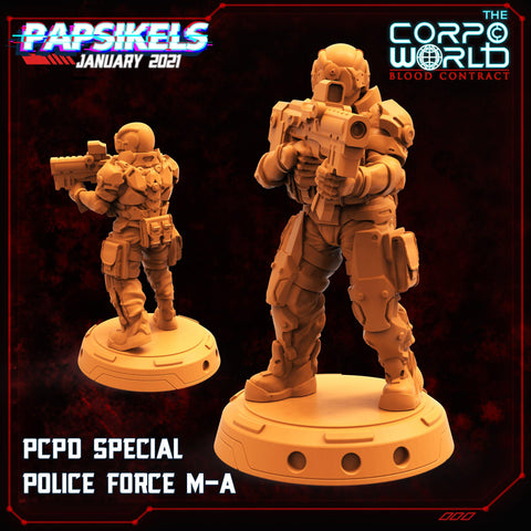 PCPD Special Police Force by Papsikels Miniatures - Mecha.Net Studios
