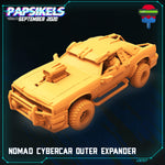 Nomad Cybercar by Papsikels Miniatures