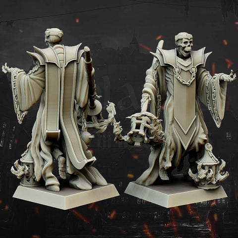 Skeleton Wizard by Highlands Miniatures