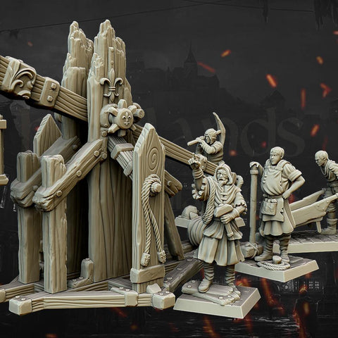 Trebuchet and Crew by Highlands Miniatures - Mecha.Net Studios