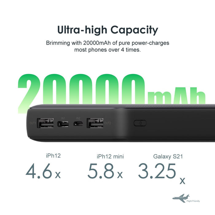 oraimo Pilot 20000mAh 2.1A Fast Charging Power Bank - Online Exclusive