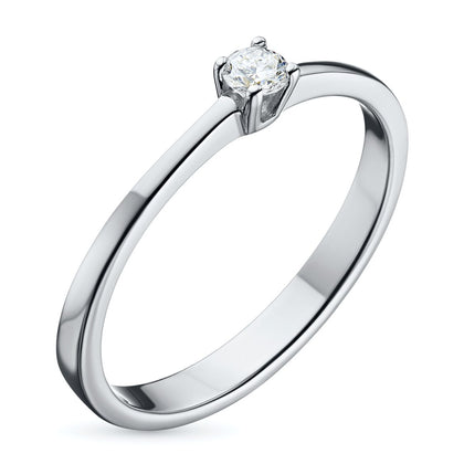 White gold ring with a diamond e0901kts09152400
