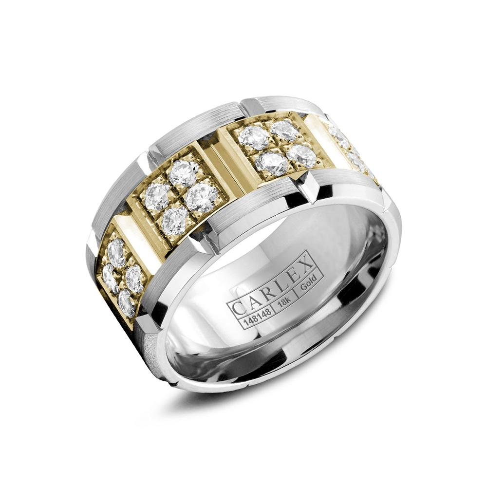 Diamond set 18ct Yellow Gold Luxe Ring