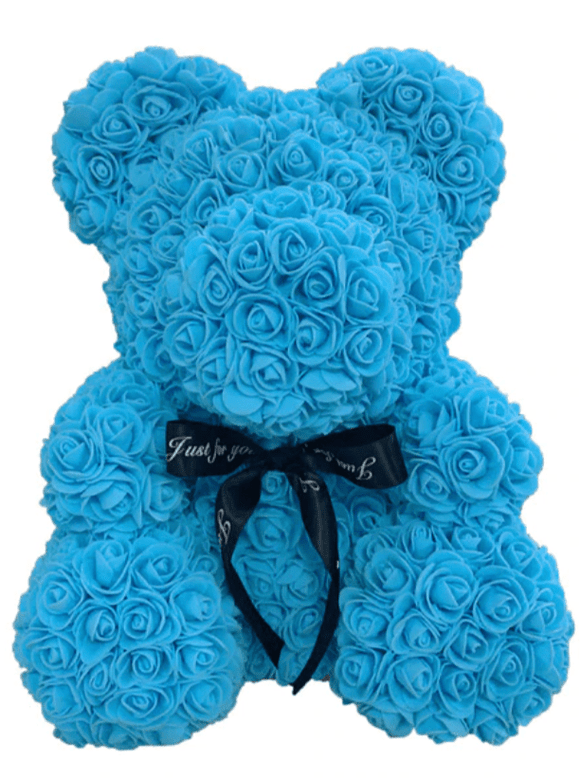 Rose Bear - Blue