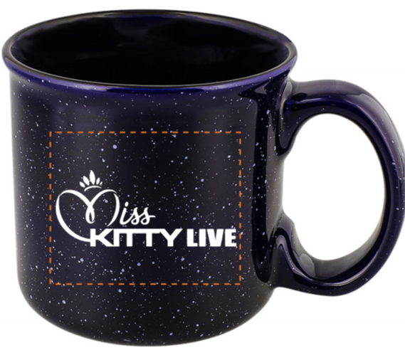 13 oz. Miss Kitty Live Mug - Cobalt Blue