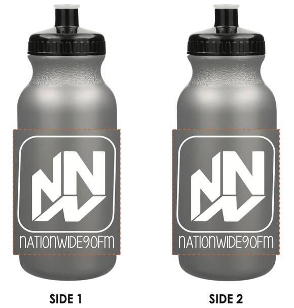 20 oz. Plastic Sports and Bike Bottle - Silver