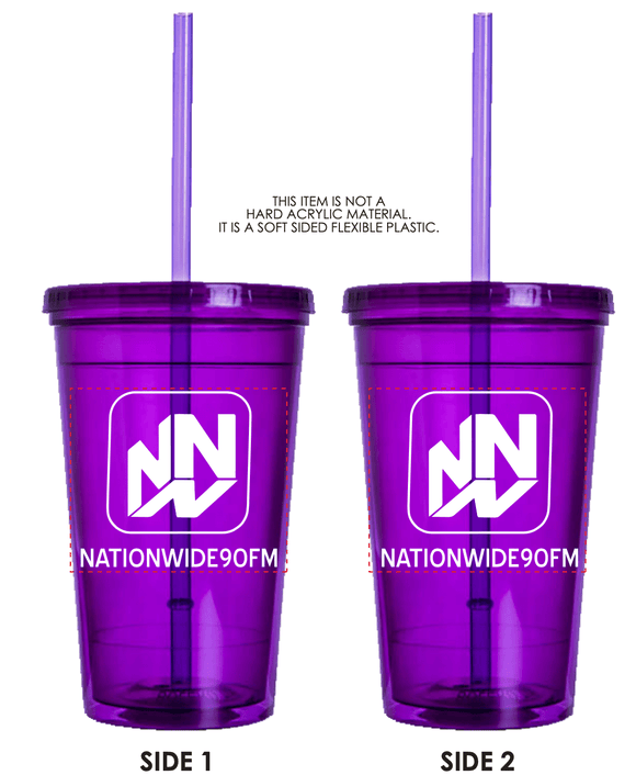 16.oz Double Wall Tumbler - Purple