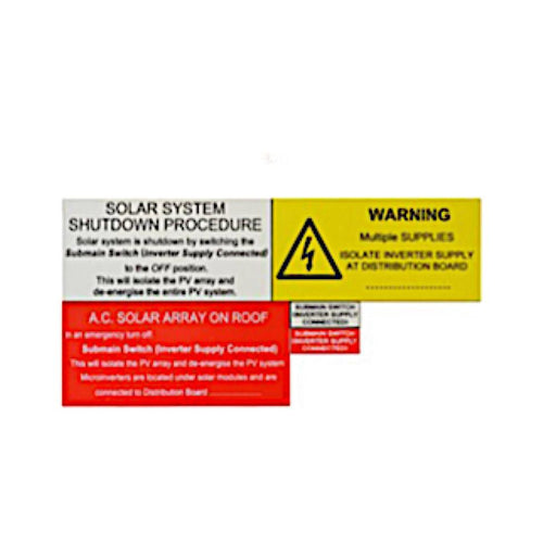 Microinverter system label kit - Sub board