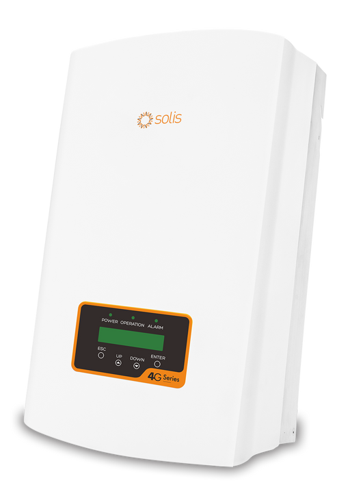 SOLIS 4G 3 kW 1 Phase 2 MPPT w/Wifi 5+5, DC Switch built-in, 'Meter' interface (Solis-1P3K-4G)