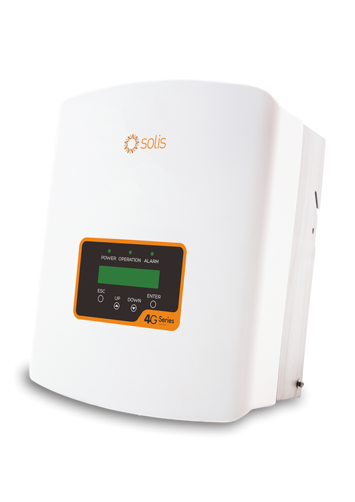 SOLIS 4G 3 kW 1 Phase 1 MPPT w/Wifi 5+5, DC Switch built-in, 'Meter' interface (Solis-mini-3000-4G)