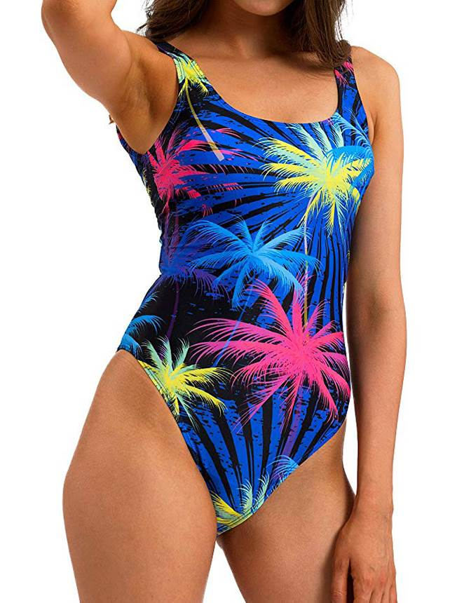 Printing Women Backless One Piece Swimsuits