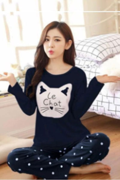 Girls Trouser T Shirt Le Chat