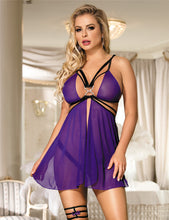 Load image into Gallery viewer, Strappy Mesh Flyaway Babydoll Set