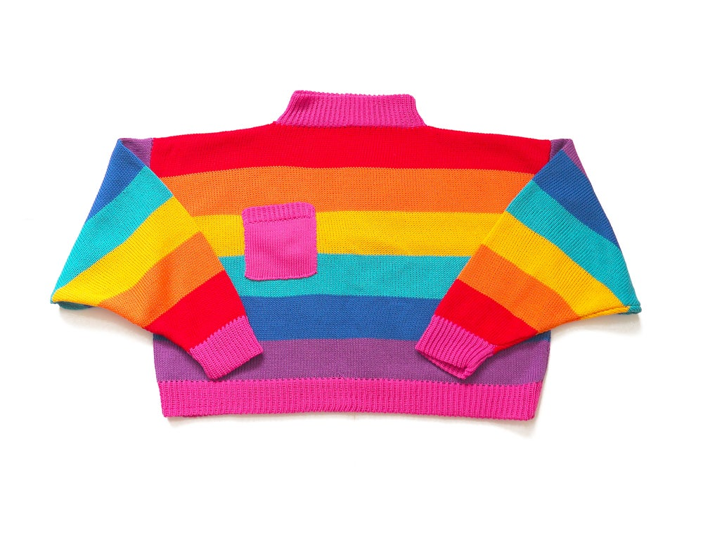 Rainbow Stripe Pocket Jumper