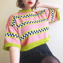 Load image into Gallery viewer, Pink 'n' Lime Checkerboard Tee