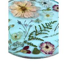"Load image into Gallery viewer, 11"" Aquamarine Flower Tray"