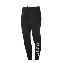 Load image into Gallery viewer, Classic Black #RESTDAY Joggers