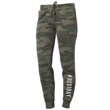 Load image into Gallery viewer, Camo #RESTDAY Joggers