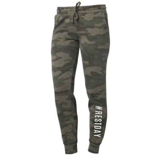 Camo #RESTDAY Joggers