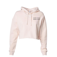 Load image into Gallery viewer, Blush Happy Pace Happy Face Cropped Hoodie
