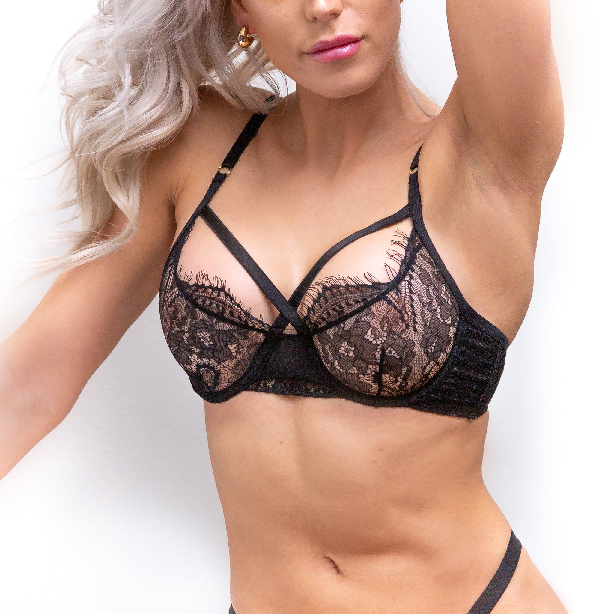 FAVORITE Sexy Lace Bra - Black