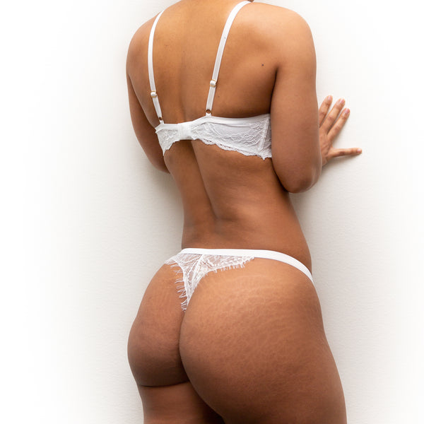 FAVORITE Sexy Lace Thong - White