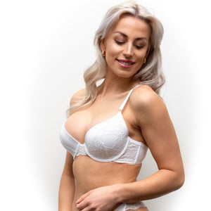 FAVORITE Padded Lace Bra - White