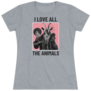 I love all the animals - Women's Triblend Tee