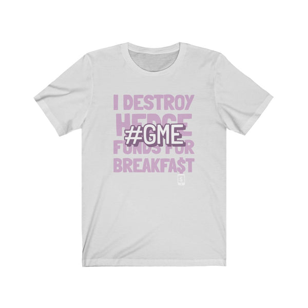 I destroy hedge funds - freedom - Unisex Jersey Short Sleeve Tee