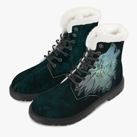 Winter Wolf -  Faux Fur Leather Boots