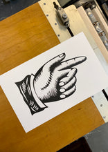 Load image into Gallery viewer, Printers Fist Letterpress Poster