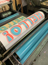 Load image into Gallery viewer, HELLO! - Chromatic Letterpress Print