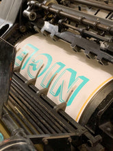 Load image into Gallery viewer, NICE - Chromatic Letterpress Print