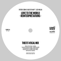 Patrick Gibin & Kaidi Tatham Ft. Josh Milan | Love to the World (Theo Parrish Reinterpretations) - Expected Feb