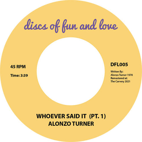 Alonzo Turner | Whoever Said It