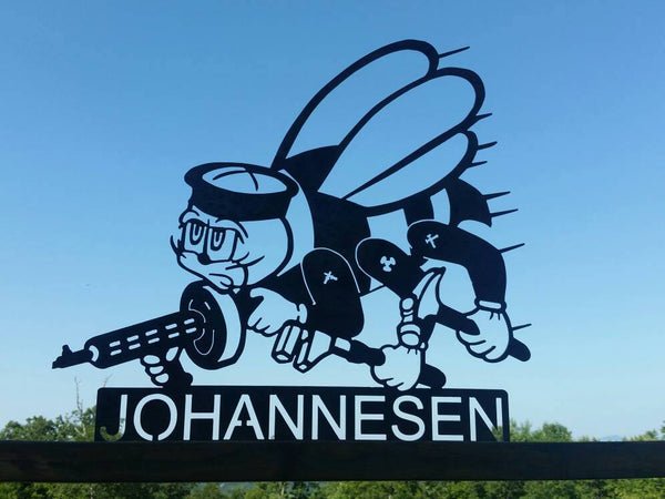 Personalized SEABEE Metal Sign