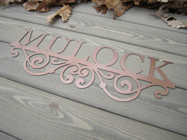 Scroll Personalized Metal Name Sign