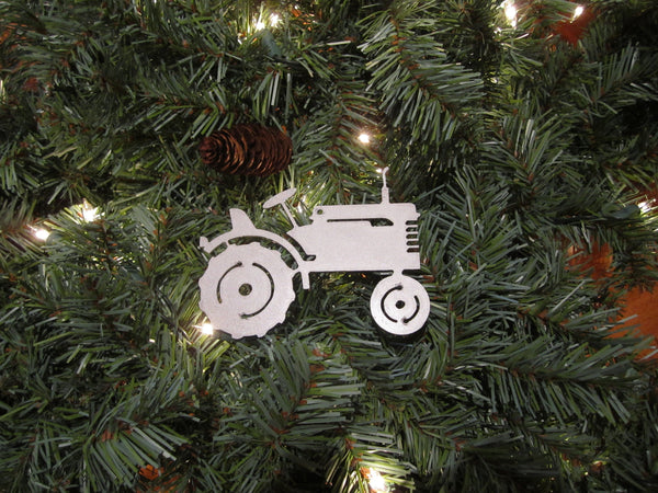 Vintage Tractor Christmas Ornament