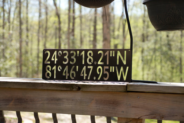 Personalized GPS Coordinates Metal Sign