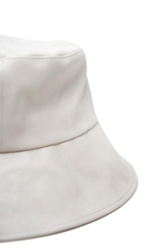 Jadon Putty Vegan Leather Bucket Hat