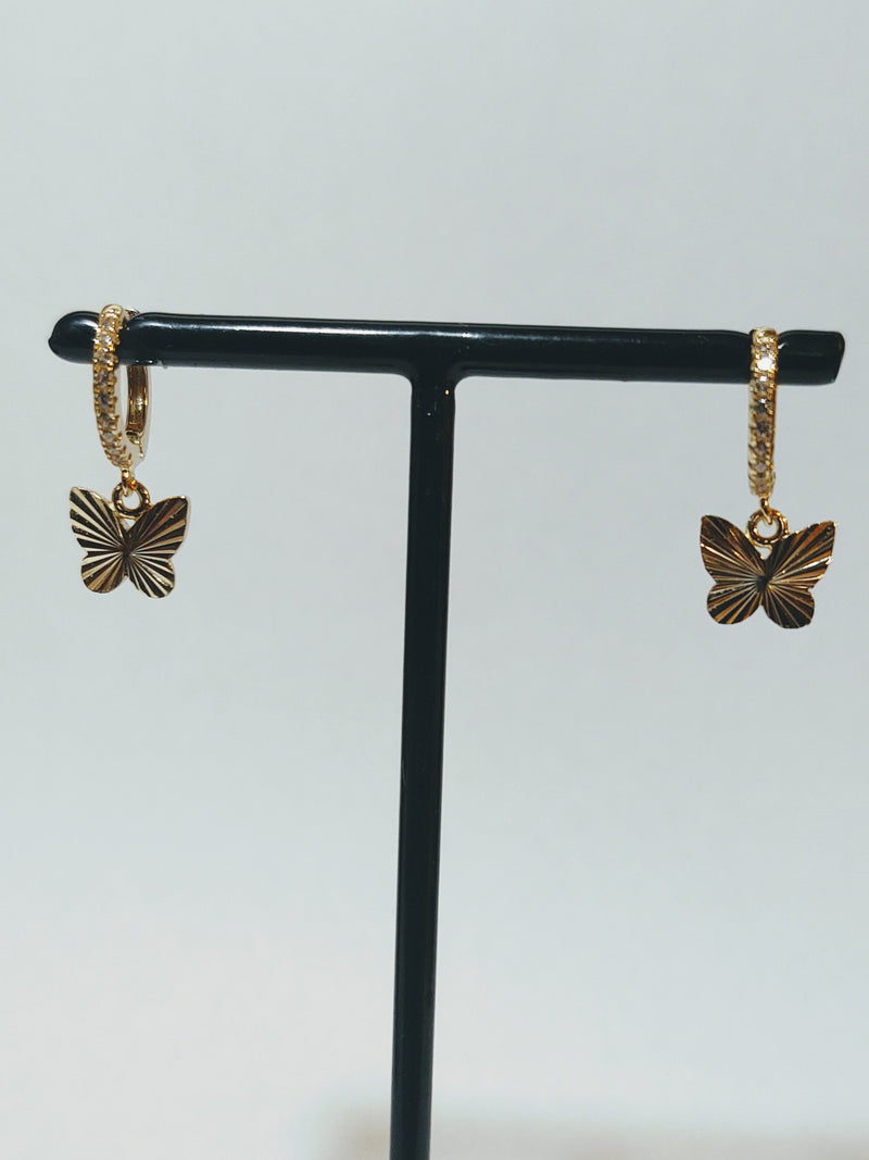 Butterfly Dangle Huggy Earring