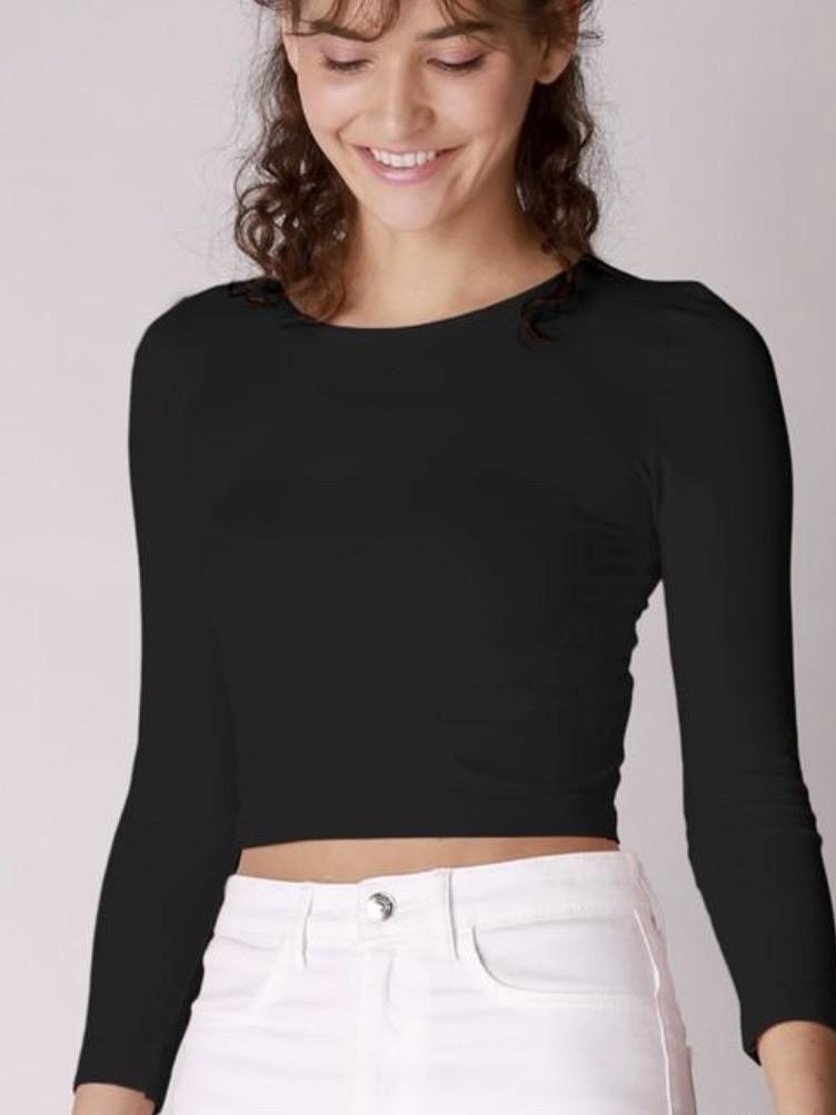 Kirsten Black Crop Top