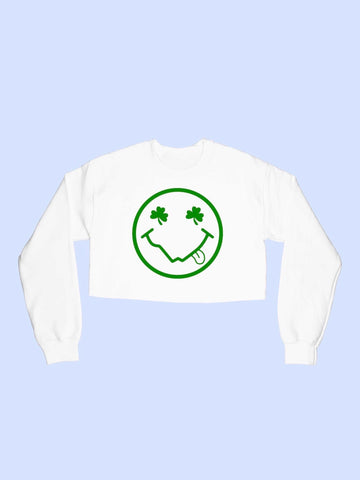 Happy Clover Crop Sweatshirt