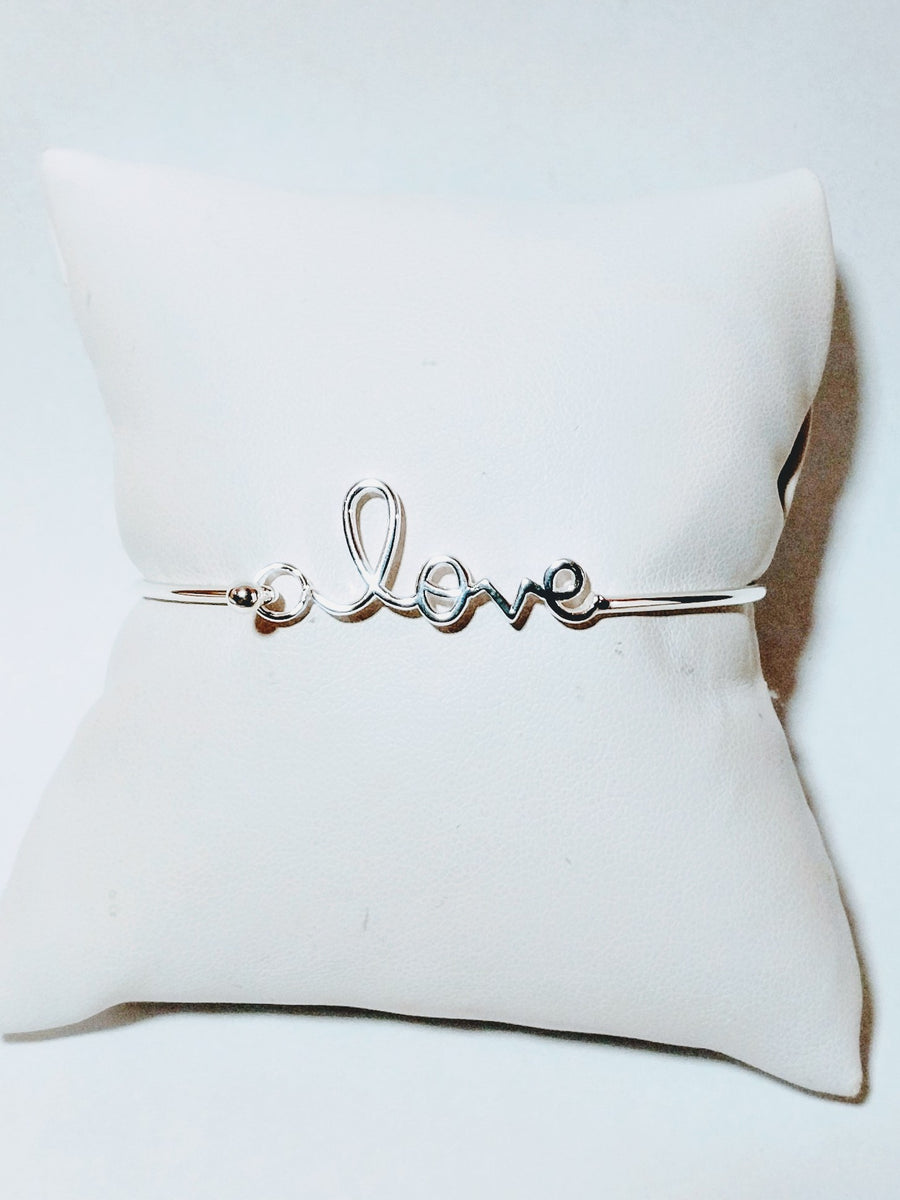 Love Note Sterling Silver Bracelet
