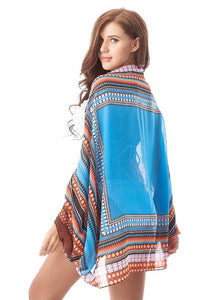 Aztec Print Beach Cover Up