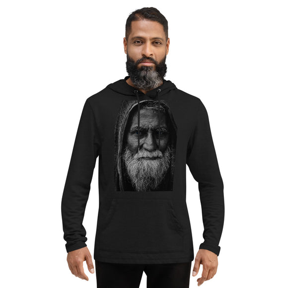 Old Bearded man Lightweight Hoodie